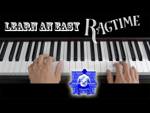 Learn how to play a very easy ragtime on piano keyboard