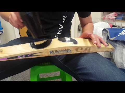 How to Remove the Stickers from your Cricket Bat - Part 1 of 2