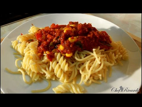 Corn Beef Served Spaghetti 15 Minute Cooking At Home Best   Recipes By Chef Ricardo