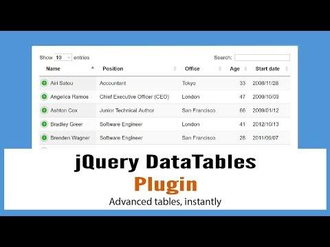 jQueryDataTables: jQuery Plugin for HTML Tables Advance Controls