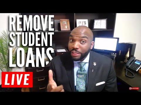 How to remove student loans from your credit report. | Free Credit Repair Course