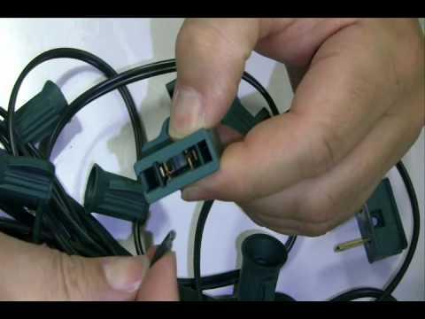 Electrical Plugs installation for custom LED light strings (socket stringer cord).