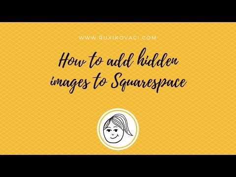 Adding hidden images in Squarespace to use for Pinterest - how to