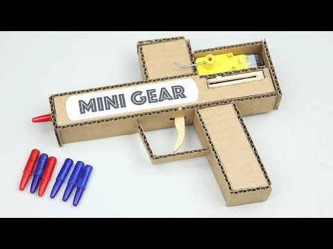 How to Make Cardboard GUN with Pen Bullet