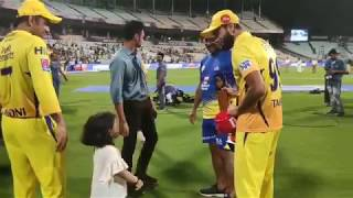Ziva Cute Moment || CSK vs KKR || MS DHONI and ZIVA SINGH DHONI ||