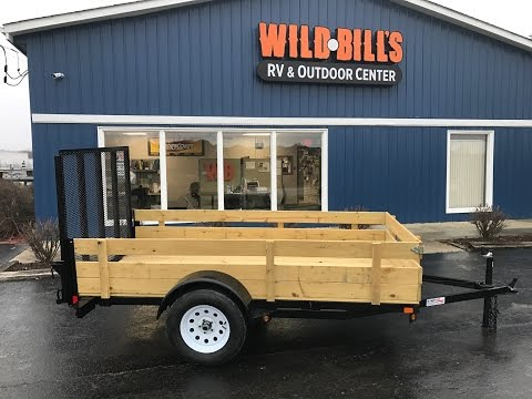 Liberty 5x10 removable wood side utility trailer heavy duty ramp gate  $1450