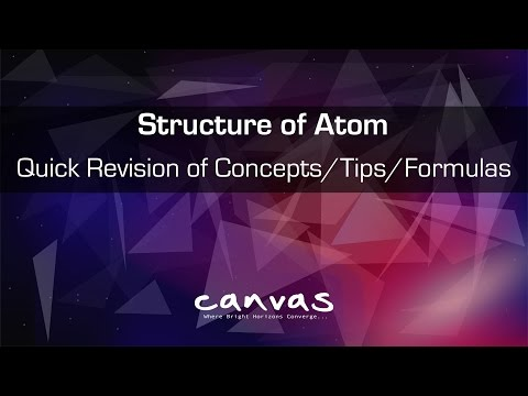 Atomic Structure | Quick Revision of concepts, Formulas in 90 Min