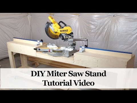 How to Build a Miter Saw Stand