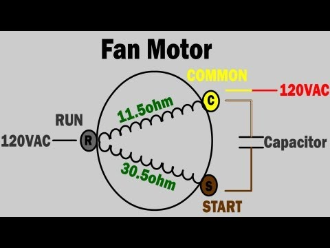 AC fan not working - how to troubleshoot and repair condenser fan motor - trane air condition