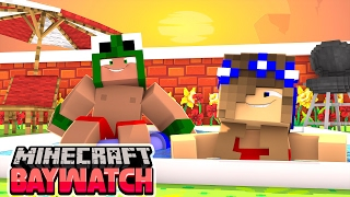 Minecraft Baywatch - GOING TO A POOL PARTY WITH LITTLE CARLY!