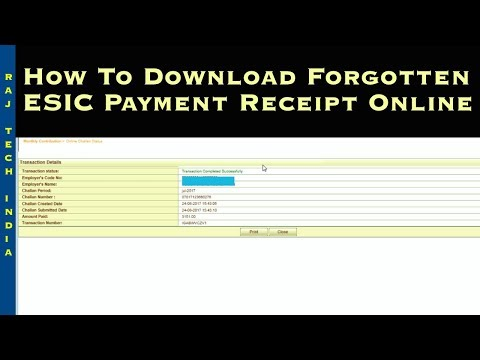 ESIC Challan Receipt Print || ESIC Paid Challan Download
