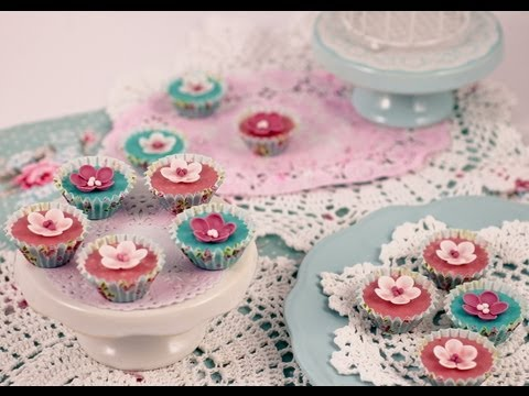 How to make Sweet sugar blossoms from fondant