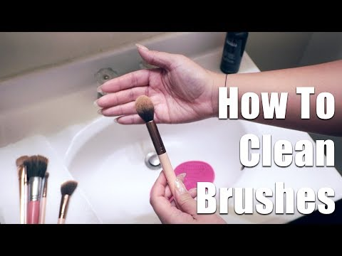 How To Clean Brushes || The Savvy Beauty