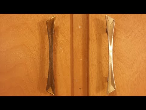 How To Clean Brass Door Handles And Knobs, Polish And Restore, Bar Keepers Friend.