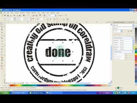 Corel Draw Tutorial  creating old stamp