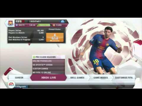 Fifa 13 Pro Clubs Glitch