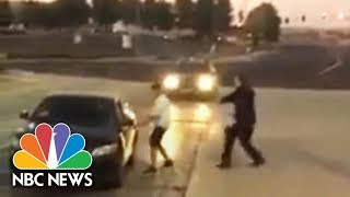 Angry Suspect Chasing And Beating Sheriff's Deputy Is Caught On Camera | NBC News