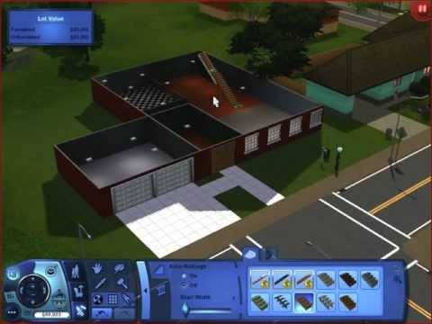 sims 3 lets build a house epi 2 upstairs