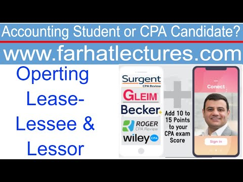 Accounting for Operating Leases by Lessee-Lessor New Rules | Intermediate Accounting | CPA Exam FAR