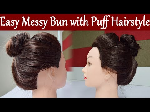 Hairstyle Tutorial: Easy Messy Bun with Puff Hairstyle | Lazy Hairstyle | Boldsky