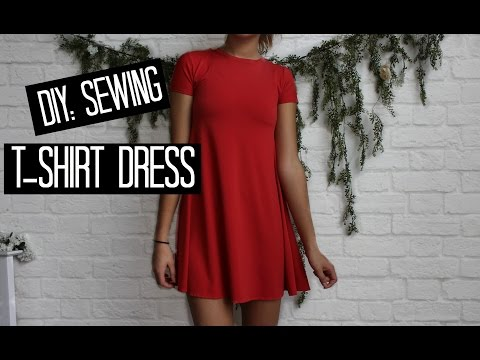 DIY T-shirt Dress : Easy Sewing