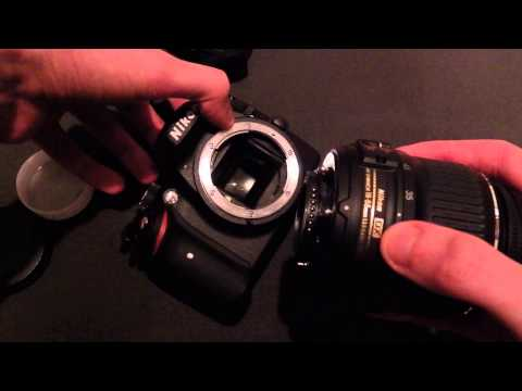 How to install & uninstall a lens on the Nikon D3200 DSLR Camera.