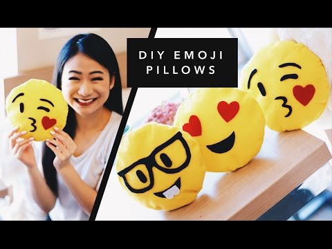 DIY EMOJI PILLOWS!