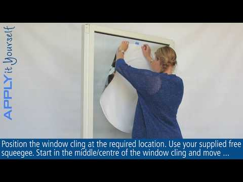 How to Apply Window Cling (APPLYitYourself)