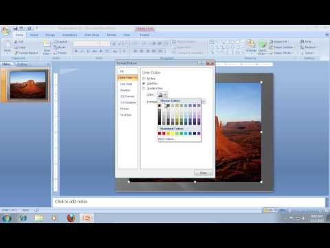 How to Add PowerPoint 2007 Borders