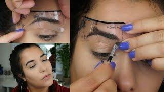 How To Use Eyebrow Stencils | Lola Mojica