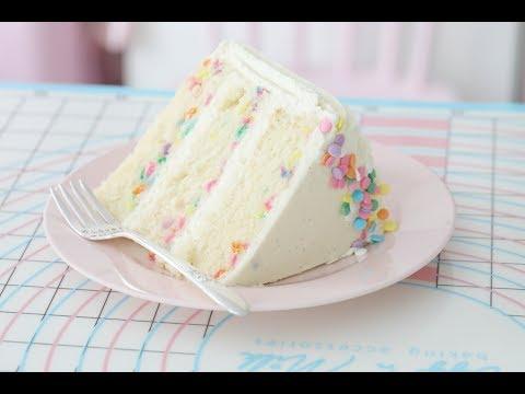 CONFETTI VANILLA CREAM CAKE, HOW TO DO VIDEO
