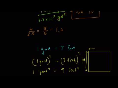 Square Yards and Feet in Scientific Notation