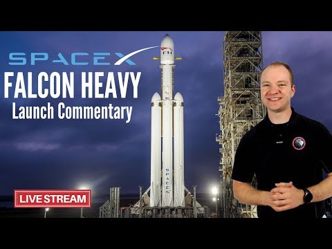 Live Launch Commentary | SpaceX Falcon Heavy Demo Flight 1 | Maiden Flight