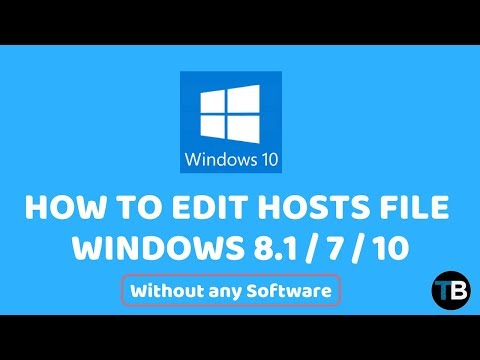 How To Edit Hosts Files in Windows 10 / 7 / 8 and 8.1