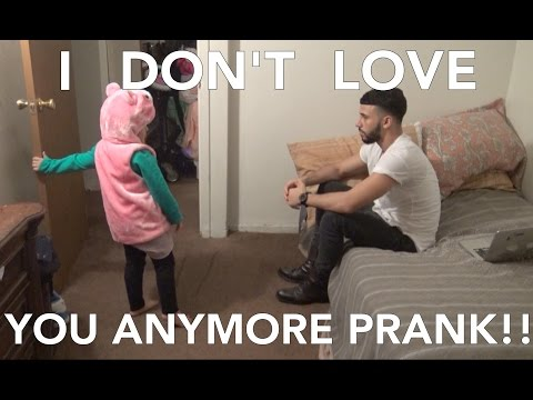I DON'T LOVE YOU ANYMORE PRANK!!