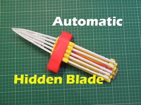How to Make a Paper automatic hidden blade(New Mode)l - Easy Tutorials