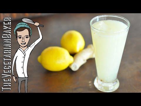 How To Make Ginger Lemonade | TheVegetarianBaker