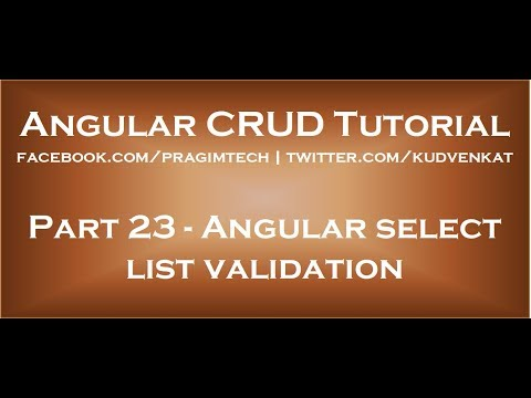 Angular select list validation