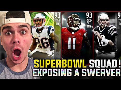 SUPER BOWL TEAMS UNITE AS ONE! EXPOSING A SWERVE GLITCHER! MADDEN 17 ULTIMATE TEAM