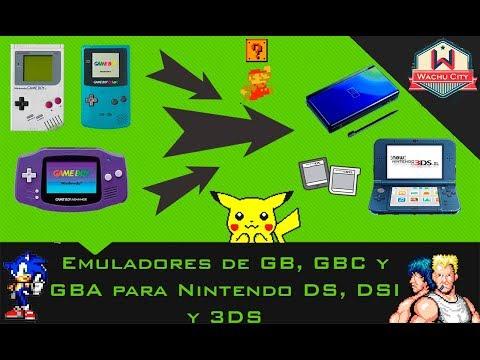 Emuladores de GB,GBC y GBA para tu Nintendo DS, DSI y 3DS 2016 [Wachu City]