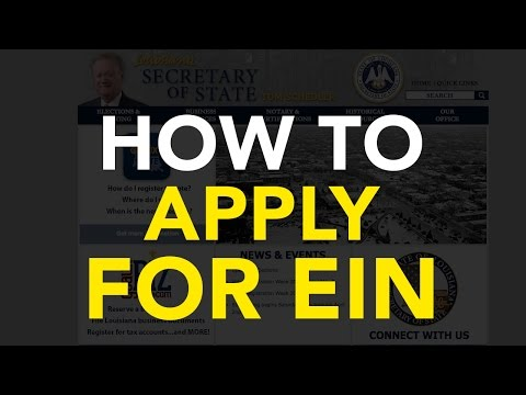 How to apply for EIN with IRS