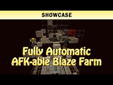 Minecraft Showcase: Fully Automatic AFK-able Blaze Farm