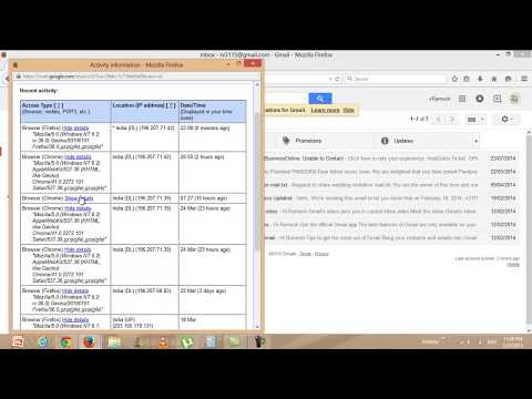 How to check gmail suspicious activity, track gmail login location, Gmail suspicious activity alert