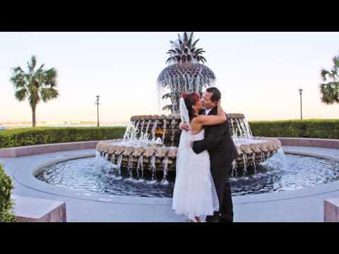 Charleston, SC Wedding at the Pineapple Fountain