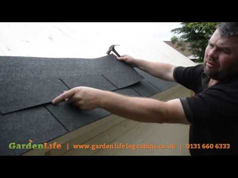 How to add roof shingles to a summer house
