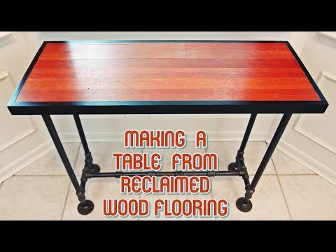 Making a Table From Reclaimed Antique Wood Flooring