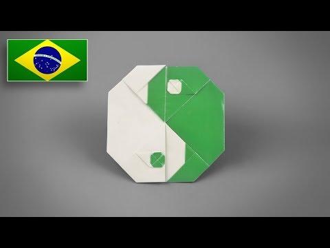 Origami: Símbolo Yin Yang - Instruções em Português BR