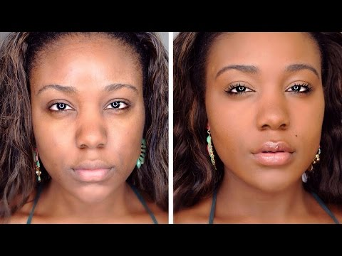 HOW TO: Flawless Natural Makeup Tutorial - Beginners Make-up Tips & Tricks for Black Women 2015