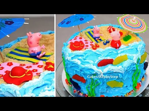 PEPPA PIG Cake - Kids Cakes - Decorating with Buttercream Fondant & Candy