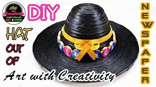 Newspaper Hat | DIY | Art with Creativity 133
